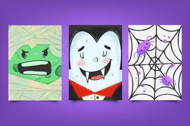 Szablon karty festiwalu halloween