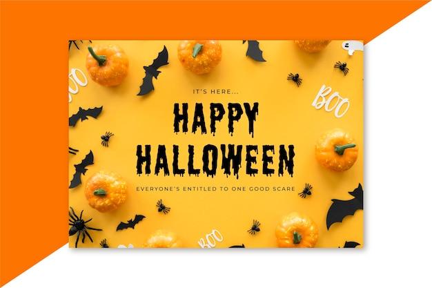 Szablon karty halloween