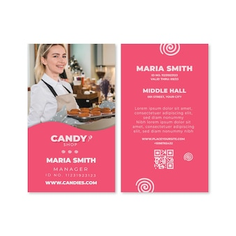 Szablon karty identyfikacyjnej cukierków