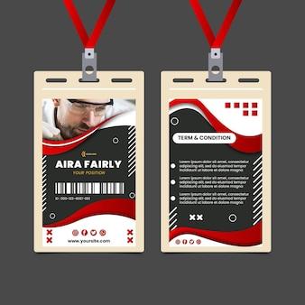Szablon karty identyfikacyjnej elektryka