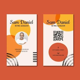 Szablon karty identyfikacyjnej fabryki cukierków