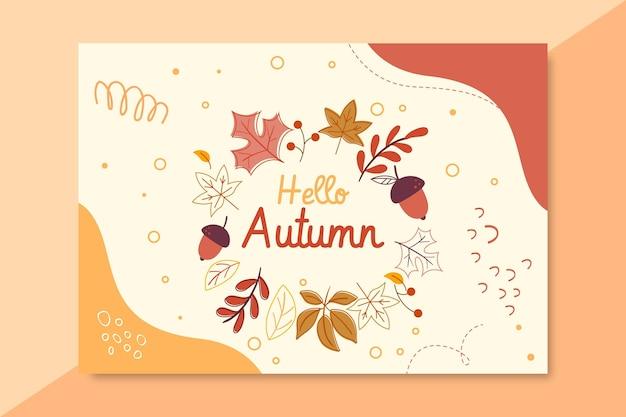 Szablon karty jesień