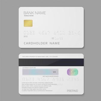 Szablon karty kredytowej banku