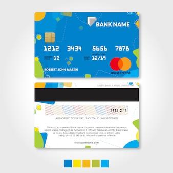 Szablon karty kredytowej i debetowej