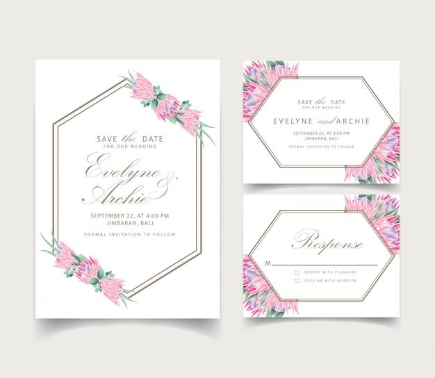 Szablon karty kwiatowy wesele zaproszenie