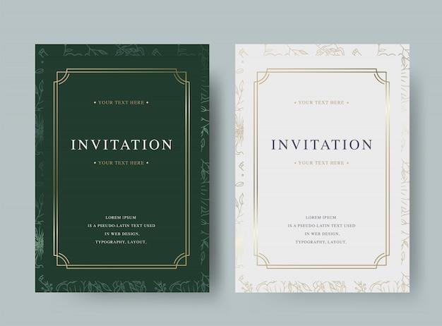 Szablon karty kwiatowy wzór zaproszenie luksusowe