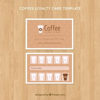 Szablon karty lojalnościowej kawy