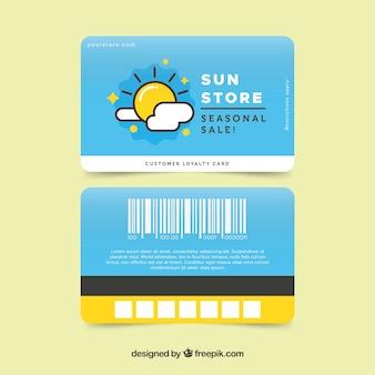 Szablon karty lojalnościowej kolorowy sklep
