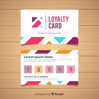 Szablon karty lojalnościowej z abstrakcyjnego projektu