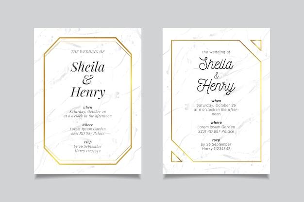 Szablon karty marmur ślub