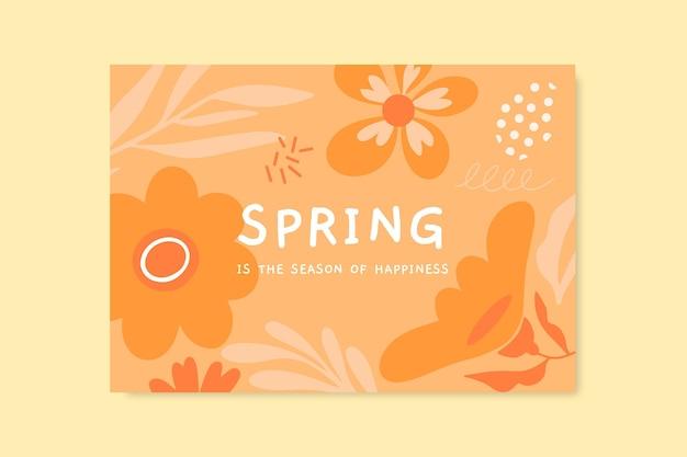 Szablon karty monochromatycznej wiosny