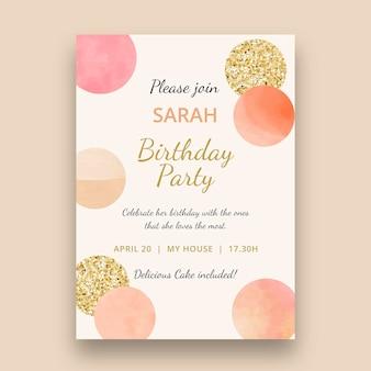 Szablon karty pionowej urodziny