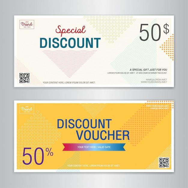 Szablon karty podarunkowej lub kuponu gotówkowego