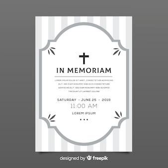 Szablon karty pogrzebowej