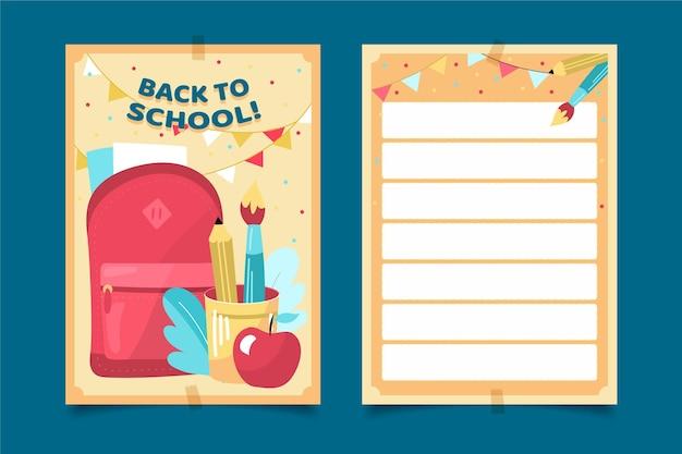 Szablon karty powrót do szkoły