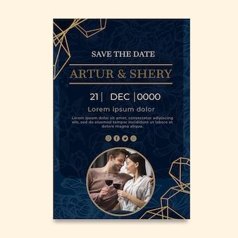 Szablon karty rocznica ślubu
