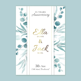 Szablon karty rocznicy ślubu