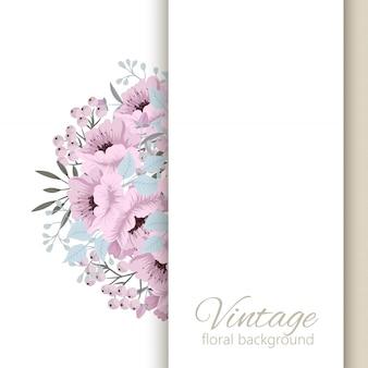 Szablon karty ślubne kwiatowy