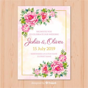 Szablon karty ślubu