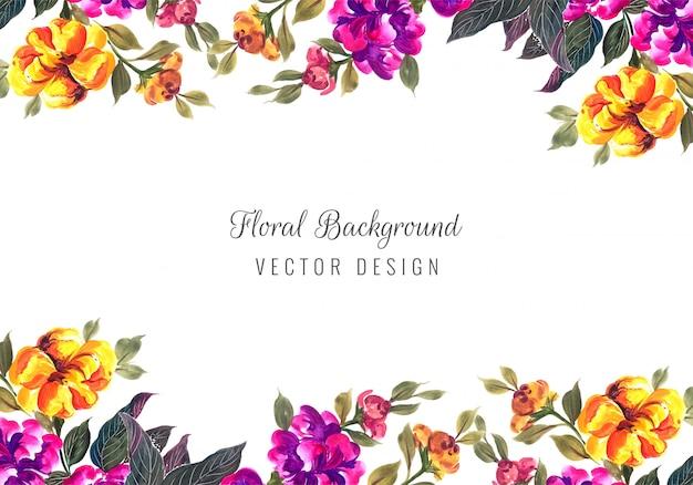 Szablon karty streszczenie kolorowe ozdobne kolorowe kwiaty