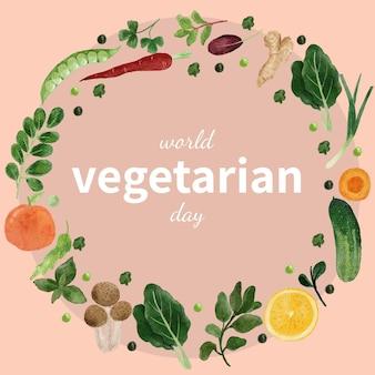 Szablon karty światowego dnia wegetariańskiego