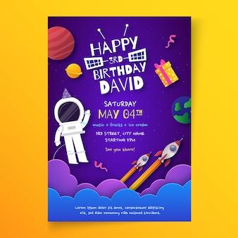 Szablon karty urodzinowej dla dzieci