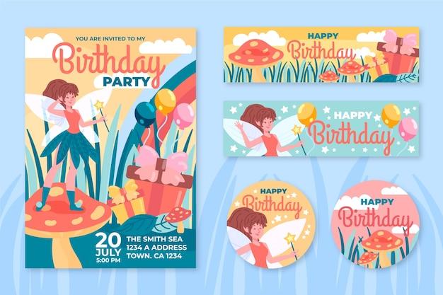 Szablon karty urodzinowej / zaproszenia dla dzieci