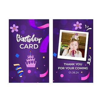 Szablon karty urodziny dzieci