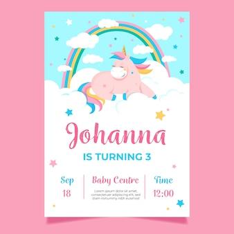 Szablon karty urodziny dzień dziecka