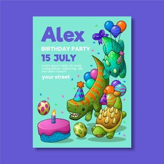 Szablon karty urodziny słodkie dzieci
