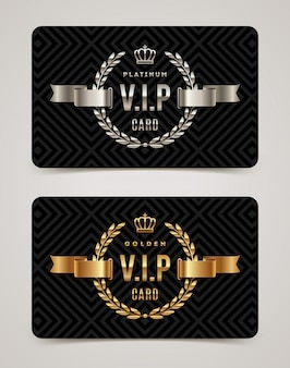 Szablon karty vip złoty i platynowy.