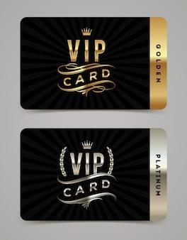 Szablon karty vip złoty i platynowy