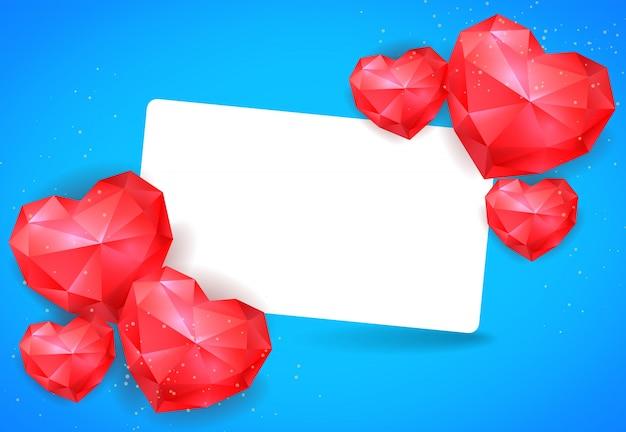 Szablon karty walentynki z serca
