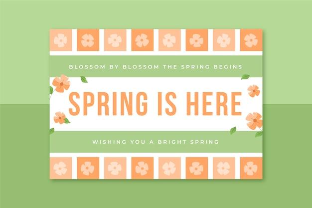 Szablon karty wiosny siatki