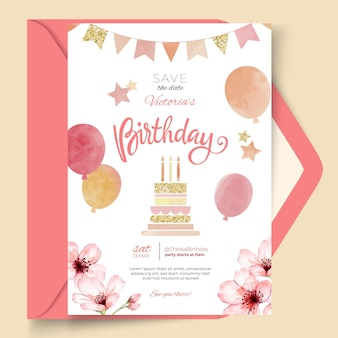 Szablon karty z okazji urodzin