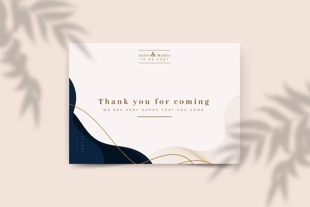 Szablon karty z podziękowaniami ślubnymi