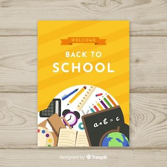 Szablon karty z powrotem do szkoły