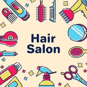 Szablon karty z pozdrowieniami dla fryzjera