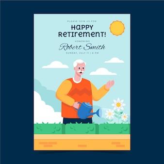 Szablon karty z pozdrowieniami emerytalnymi