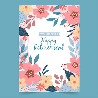 Szablon karty z pozdrowieniami kreatywnych mieszkanie emerytury