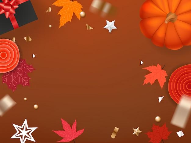 Szablon karty z pozdrowieniami świątecznymi halloween. skopiuj miejsce na tekst