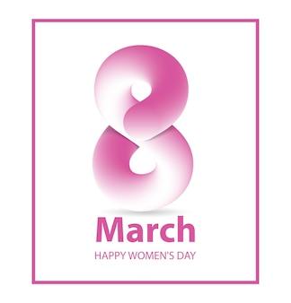 Szablon karty z pozdrowieniami z okazji dnia kobiet 8 marca międzynarodowy dzień kobiet plakat happy mothers day