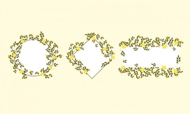 Szablon karty zaproszenia ślubne z pięknym kwiatem i liśćmi