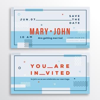 Szablon karty zaproszenia ślubne.