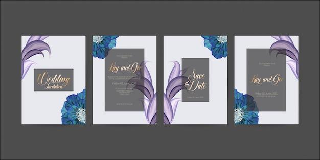 Szablon karty zaproszenia ślubne