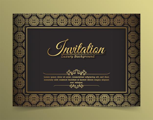 Szablon karty zaproszenie luksusowe vintage