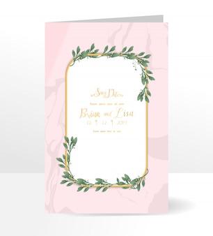 Szablon karty zaproszenie na ślub kwiatowy w stylu piękne kwiaty.