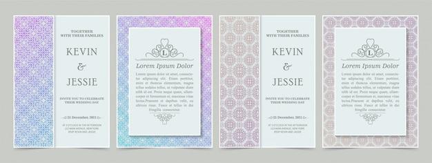 Szablon karty zaproszenie nowoczesny vintage gradientu