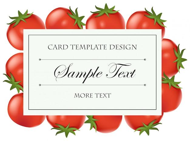 Szablon karty ze świeżych pomidorów