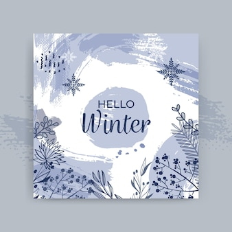 Szablon karty zima